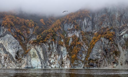 Avacha Bay, Kamchatka. Pollution appeared to be spread over a wide area.
