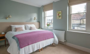 Double bedroom at Bistro Lotte, Frome, Somerset, UK.