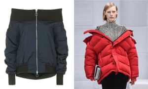 It's a stole: shoulder-draped padded jackets.
