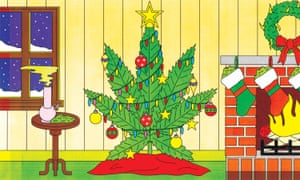 Cannabis wreaths, ornaments and advent calendars are just a few of the weed-themed holiday items available.