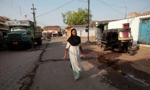 Fatima Munshi in her home village in Khandwa, India.
