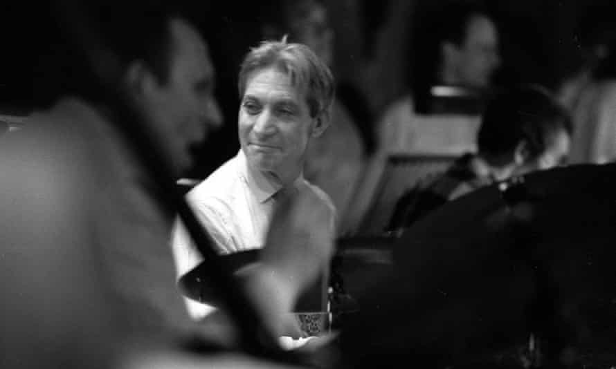 Charlie Watts playing with his jazz band at Ronnie Scott's, London, 1985.