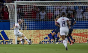 Megan Rapinoe scores the USA's second goal, which proved to be the winner in Paris.