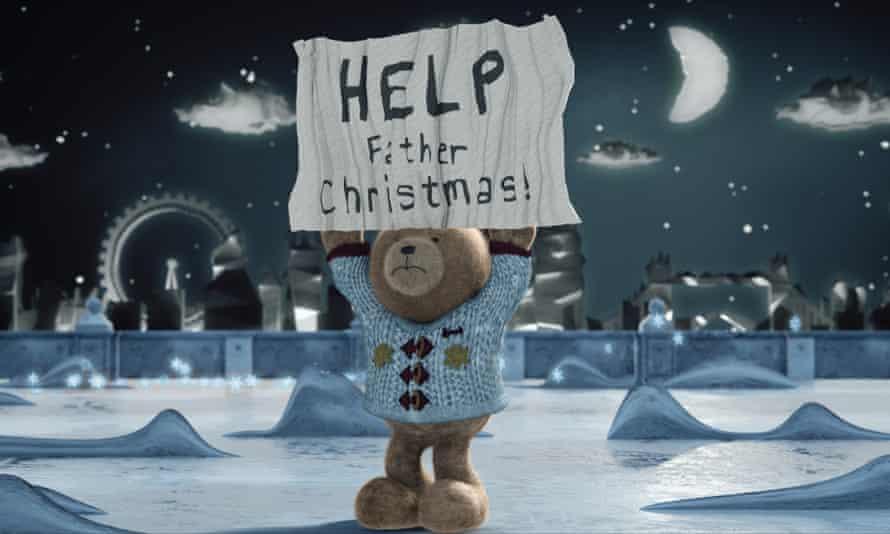 Harrods 2016 Christmas ad: A Very British Bear, featuring Hugh.