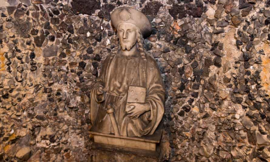 A statue of Saint James inside Alexander Pope's grotto.
