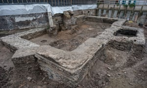 A 2nd century library discovered in Cologne, Germany.