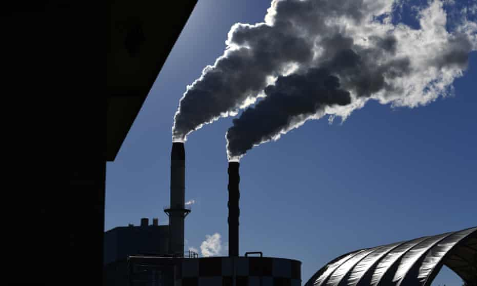 Emissions from a factory
