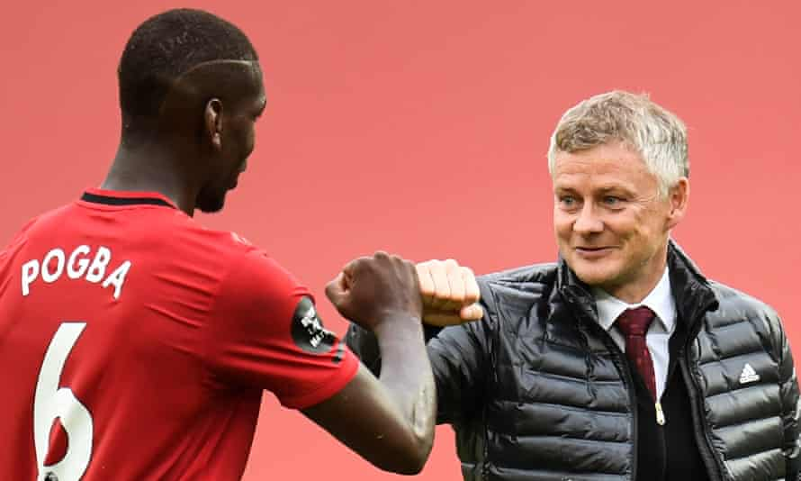 Ole Gunnar Solskjær says Paul Pogba has 'been fantastic since the restart and brought a lot to the team'.