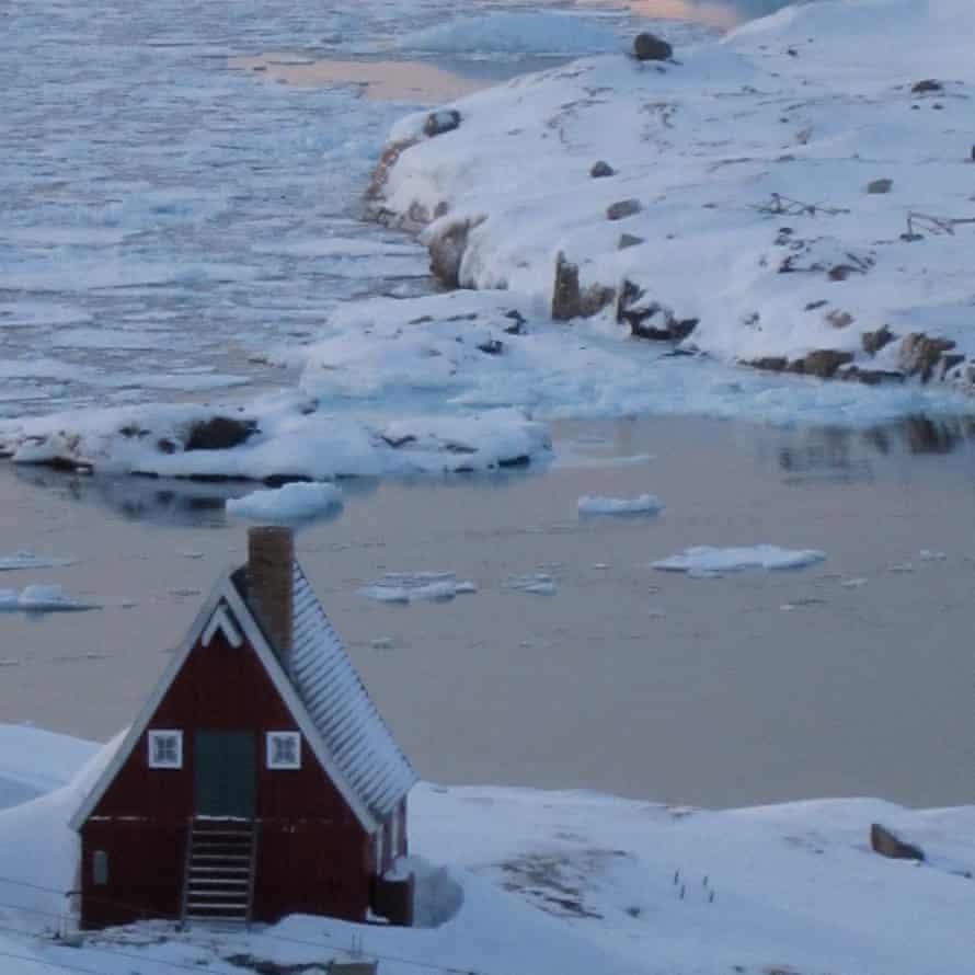 De kunstenaarswoning van Nancy Campbell in Upernavik.