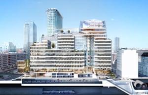 Artist impression of Deutsche Bank's new headquarters in London