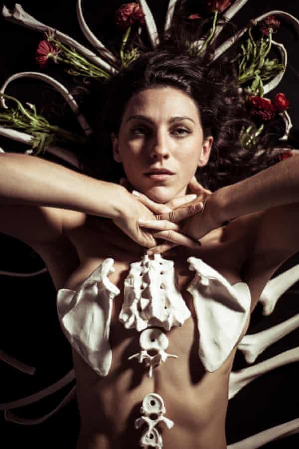 Stephanie Lake in promo shot for Skeleton Tree