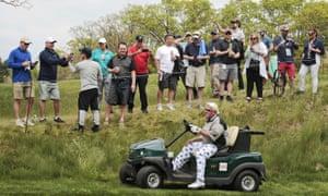 John Daly used a cart at the PGA Championship at Bethpage this year