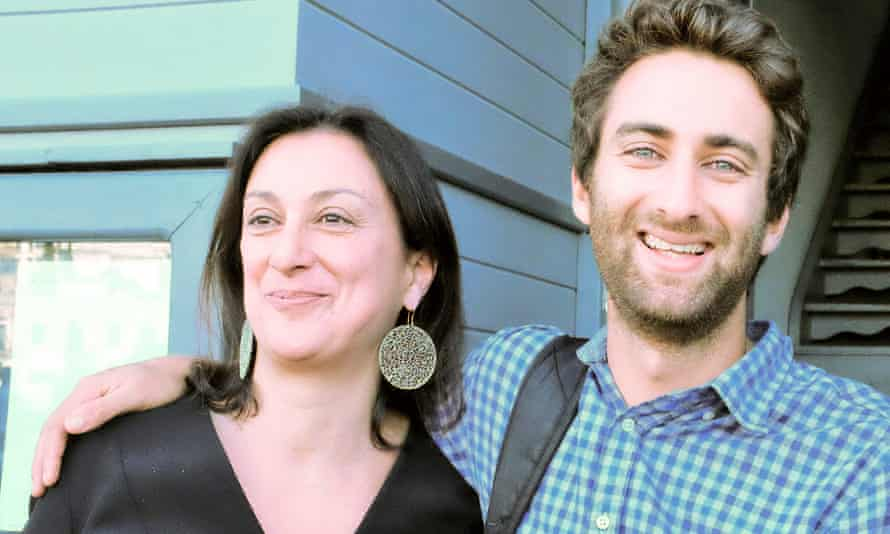 Matthew Caruana Galizia with his mother Daphne