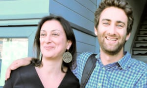 Daphne Caruana Galizia and Matthew Caruana Galizia
