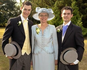 Anne Darwin with her sons, Anthony and Mark.