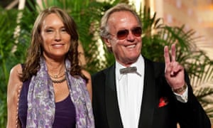 Fonda with his third wife, actor Margaret 'Parky' Devogelaere, at the Shanghai international film festival on 13 June 2009