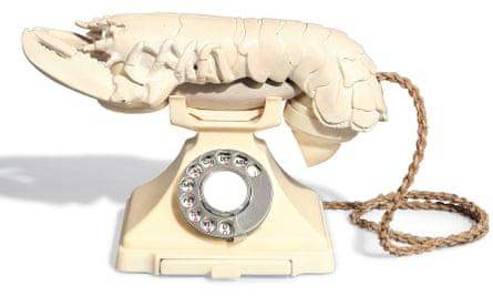Salvador Dalí's Lobster Telephone (White Aphrodisiac).