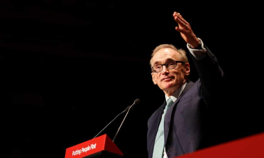 Former foreign minister Bob Carr speaking at the NSW Labor conference in 2014.