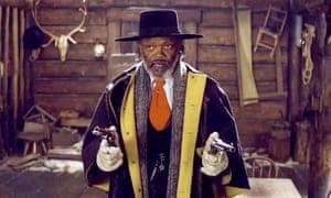 Samuel L Jackson in his latest film The Hateful Eight.