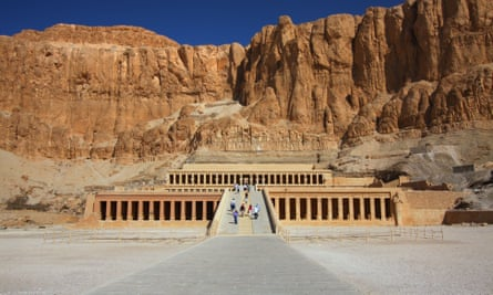 The temple of Hatshepsut in the Valley of the Kings.