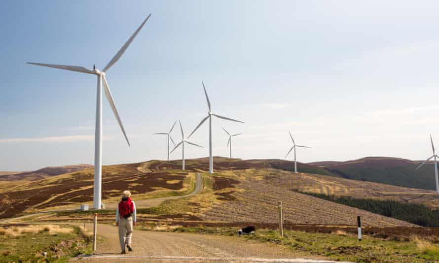 Clyde windfarm in  Scotland