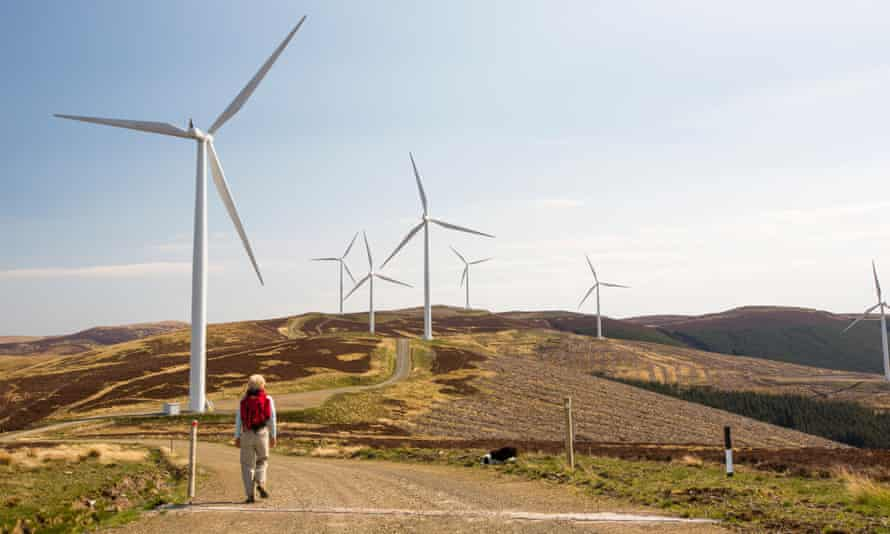 The Clyde Wind Farm in the Southern Uplands of Scotland near Biggar.