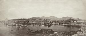A view across the harbour of Rio de Janeiro, Brazil, 1860.
