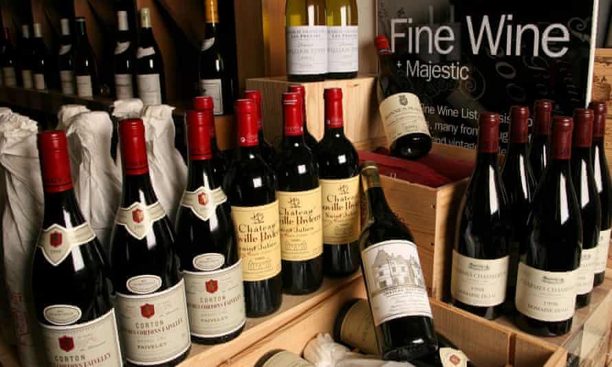 Majestic Wine bottles