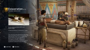'It has good foundations in terms of research' …screenshot from Assassin's Creed Origins Discovery Tour.