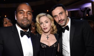 Riccardo Tisci with his good friends Kanye West and Madonna.
