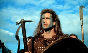 Woad is me … Mel Gibson in Braveheart.