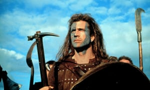 Mel Gibson learnt to stand up to the Brits after perishing in Braveheart.