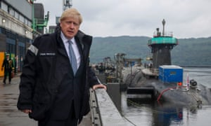 The PRIME MINISTER, Boris Johnson visits HMNB Clyde in Faslane, Scotland.