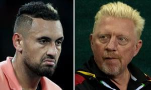 Nick Kyrgios and Boris Becker