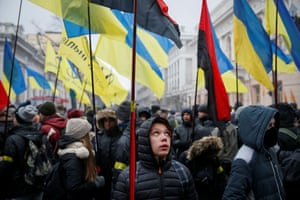 A rally in Ukraine against Russian aggression