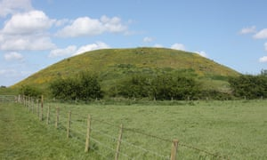 Skipsea mound in the East Riding of Yorkshire