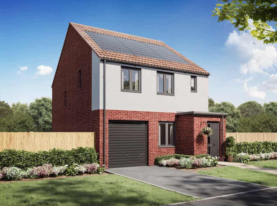 A CGI of the new zero-carbon home that Persimmon is developing