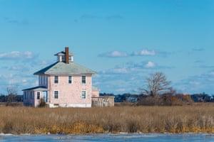 Plum Island Pink beach house