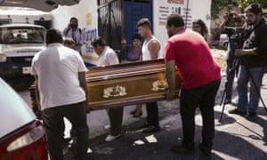 Coffin of Jorge Ruiz Vazquez