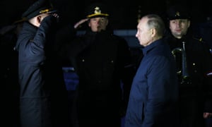 The end of history? Vladimir Putin inspects the Russian fleet in Kaliningrad,