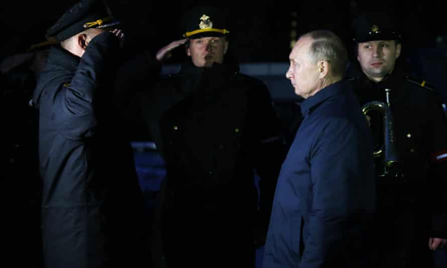 The end of history? Vladimir Putin inspects the Russian fleet in Kaliningrad,