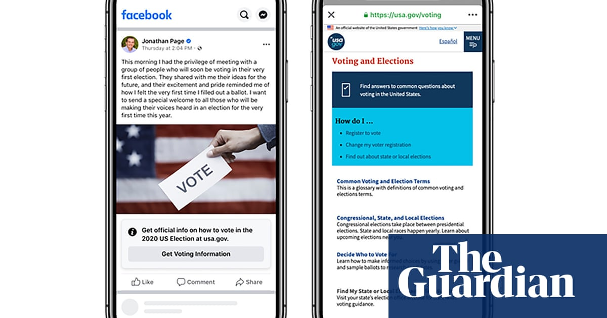 Facebook adds labels to US posts about voting ahead of presidential election