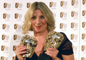 Victoria Wood with two Bafta awards for Housewife, 49.