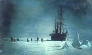 Ernest Shackleton's ship HMS Endurance, 1915.