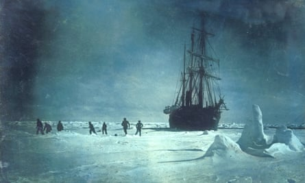 The Endurance trapped in the ice, 1915.