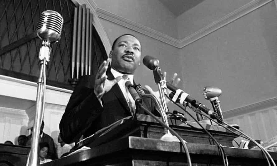 Martin Luther King Jr speaking in Atlanta in 1960.