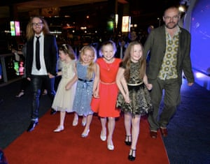 Tim Minchin, Dennis Kelly and the Matildas at Matilda the Music premiere afterparty