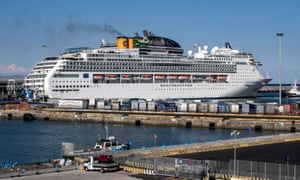 The Costa Victoria in the port of Civitavecchia, Italy