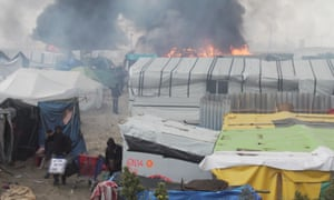 Children as young as 12 are thought to be sleeping rough in the ruins of the Calais refugee camp