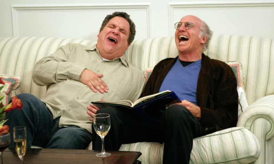 Curb Your Enthusiasm ... Jeff Garlin and Larry David cracking up.